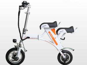 12 Inch Foldable Electric Bicycle Smart withTwo Seats